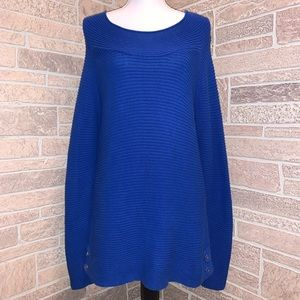 Talbots Women's Blue Cable Knit Sweater